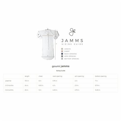 Goumikids Baby Sleeper Gown Organic Sleepsack Pajama Clothes, 0-3M Succulent Perspective: bottom