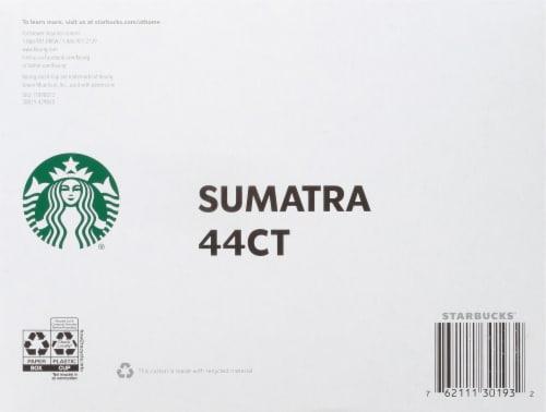 Starbucks Sumatra Dark Roast Ground Coffee K-Cup Pods Perspective: bottom