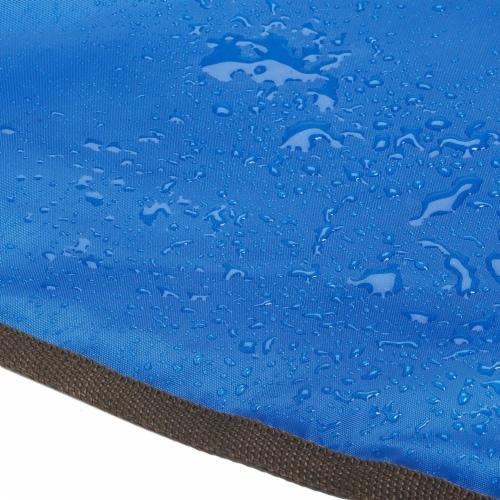 Lightspeed XL Ultra-Plush Waterproof Outdoor Stadium Blanket w/ Travel Bag, Blue Perspective: bottom