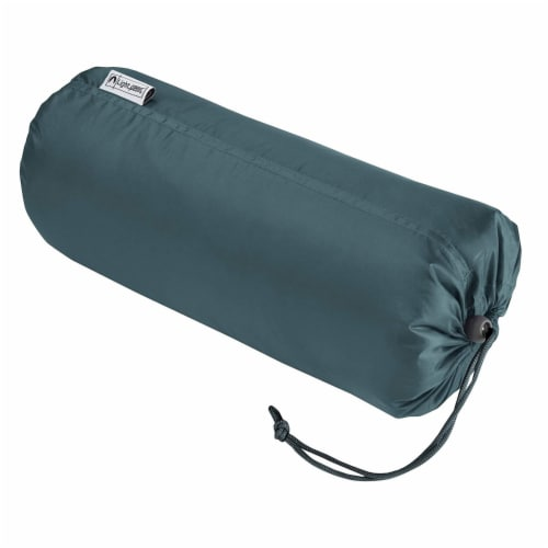 Lightspeed XL Ultra-Plush Waterproof Outdoor Stadium Blanket w/ Travel Bag, Gray Perspective: bottom