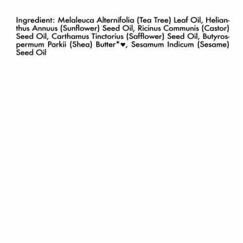 Shea Moisture Tea Tree + Premium Blend Head to Toe Clarifying Essential Oil Perspective: bottom