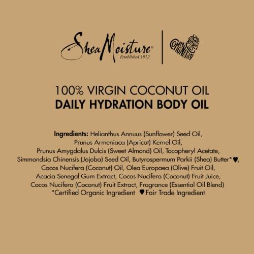 Shea Moisture 100% Virgin Coconut Oil Daily Hydration Body Oil Perspective: bottom