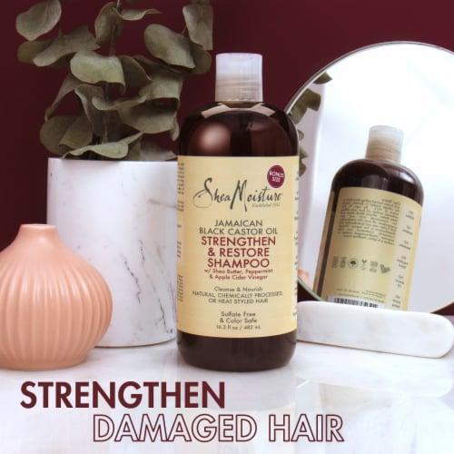 Shea Moisture Jamaican Black Castor Oil Strengthen Grow & Restore Shampoo Perspective: bottom