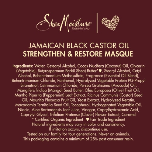 Shea Moisture® Paraben-Free Jamaican Black Castor Oil Treatment Hair Mask for Dry Hair Perspective: bottom