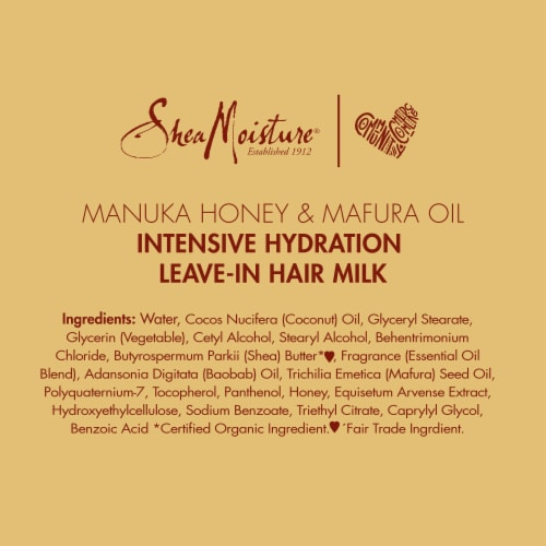Shea Moisture® Manuka Honey & Mafura Oil Leave-In Milk for Dry Hair Perspective: bottom