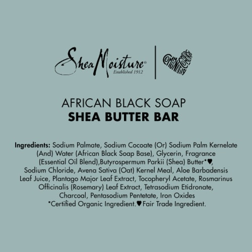 Shea Moisture® African Black Soap with Shea Butter Bar Soap Perspective: bottom