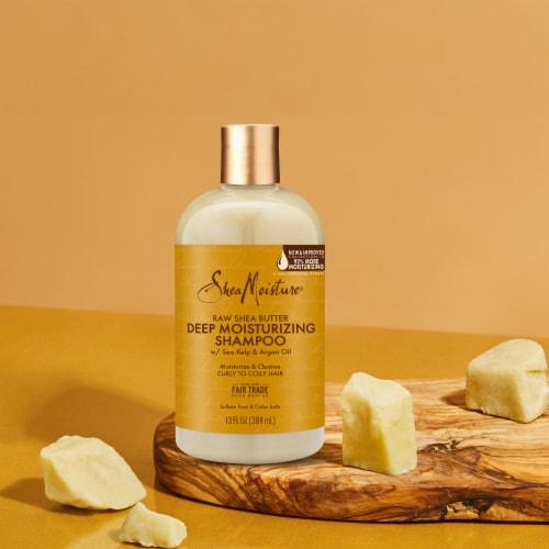 Shea Moisture Moisture Retention Raw Shea Butter Shampoo Sulfate Free Perspective: bottom