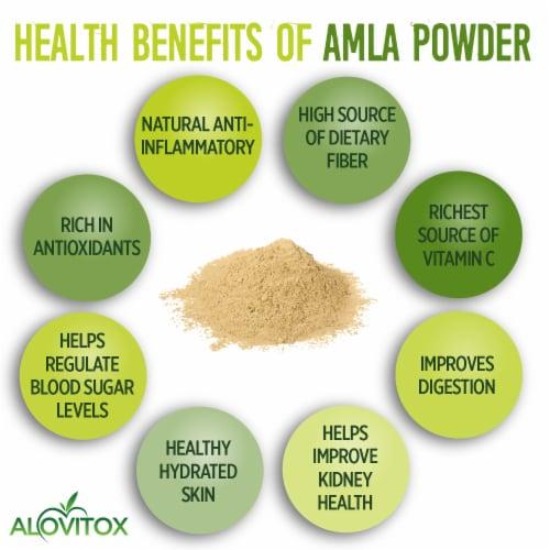 Certified Organic Amla Powder 16oz by Alovitox - Rich in Antioxidants, Smoothie Powder Mix Perspective: bottom