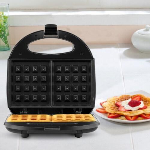 Continental 2-Slice Waffle Maker Black Perspective: bottom