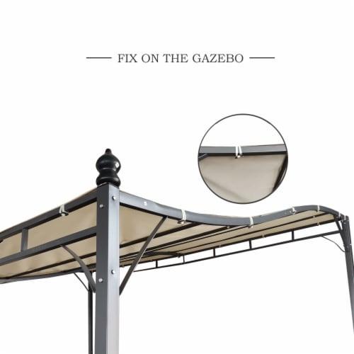 Kumo Sunshade Awning Gazebo Outdoor Patio Tilt Tent Canopy Shelter Steel Frame Perspective: bottom