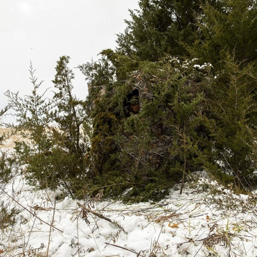 Ameristep Care Taker Kick Out Outdoor 2 Person Hunting Blind Perspective: bottom