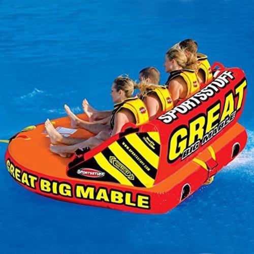SPORTSSTUFF 53-2218 Great Big Mable 4-Rider Inflatable Towable Tube w/ Tow Rope Perspective: bottom
