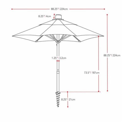 CorLiving 7.5ft UV Resistant Yellow Fabric Beach/Patio Umbrella Perspective: bottom