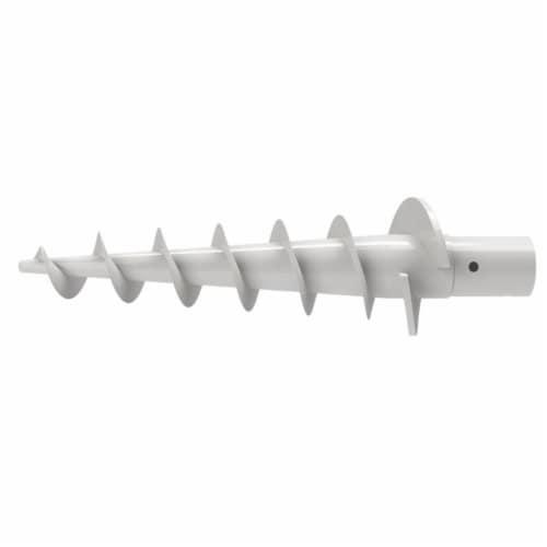 CorLiving 7.5ft UV Resistant Sand Gray Fabric Beach/Patio Umbrella Perspective: bottom