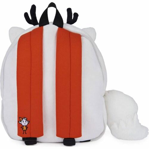 GUND 13 Inch Hilda Twig Soft Plush Kids Stuffed Animal School Backpack, White Perspective: bottom