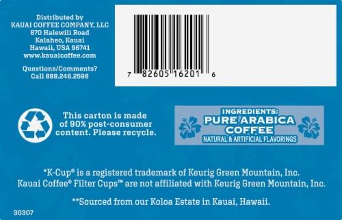 Kauai Coffee Mocha Macadamia Nut Single-Serve Pods, 12 Count Perspective: bottom