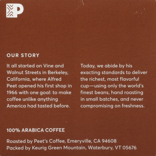 Peet's Coffee House Blend Dark Roast Coffee K-Cup Pods Perspective: bottom