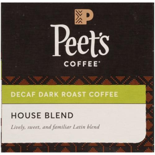 Peet's Coffee House Blend Decaffeinated Dark Roast Coffee K-Cup Pods Perspective: bottom