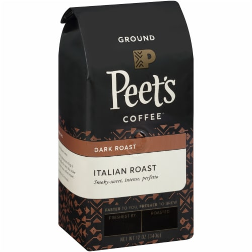 Peet's Coffee Italian Roast Dark Roast Ground Coffee Perspective: bottom