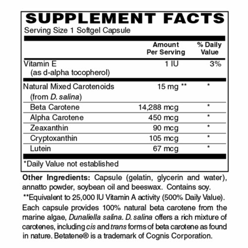 Holly Hill Health Foods, Beta Carotene, 60 Softgels Perspective: bottom