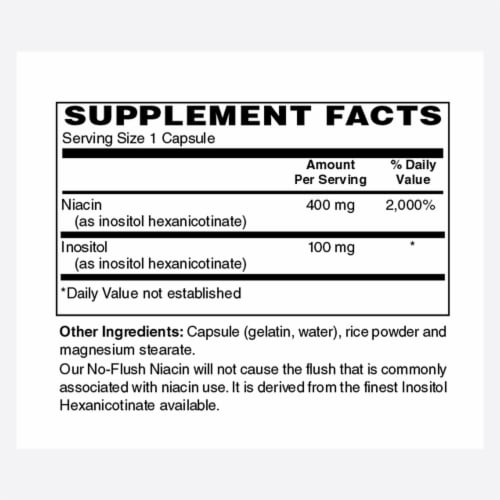 Holly Hill Health Foods, No Flush Niacin, 100 Capsules Perspective: bottom