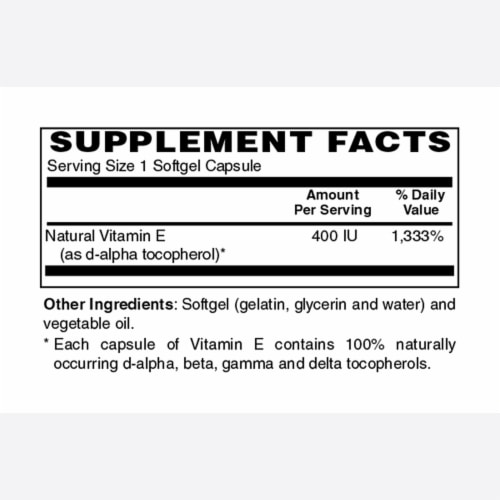 Holly Hill Health Foods, Vitamin E 400 IU, 250 Softgels Perspective: bottom