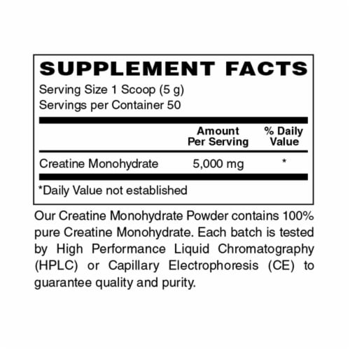 Holly Hill Health Foods, 100% Pure Creatine Monohydrate Powder, 8.8 Ounces Perspective: bottom