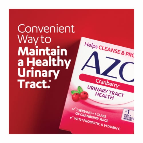 Azo Cranberry Urinary Tract Health Caplets Perspective: bottom