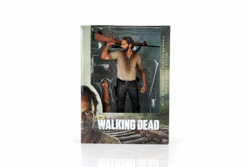 The Walking Dead Rick Grimes Deluxe Poseable Figure | Measures 10 Inches Tall Perspective: bottom