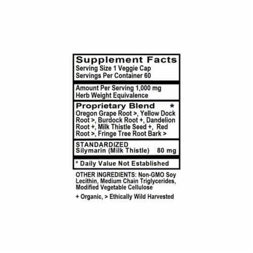 Holly Hill Health Foods, Liver Detox (with Milk Thistle), 60 Liquid Vegetarian Capsules Perspective: bottom