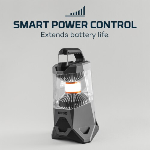 NEBO Galileo 1000 Lumen Compact 5 Mode Rechargeable Battery Power Bank Lantern Perspective: bottom