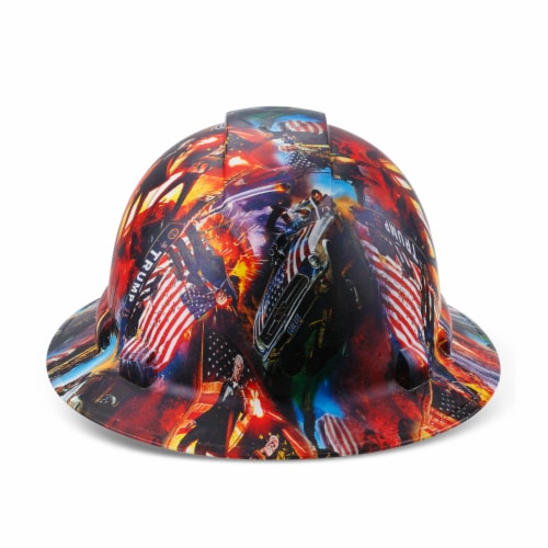 AcerPal 1PD1WH6M Full Brim Customized Pyramex Action Trump Maga Design Hard Hat Perspective: bottom