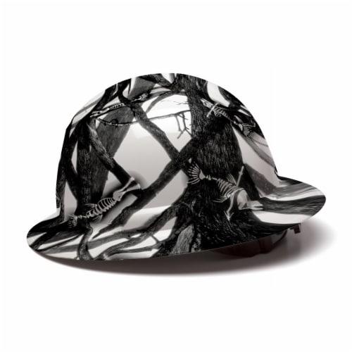AcerPal 1TT1WH4M-AK1 Fish Bare Bones Hard Hat Helmet w/ 3 Pack Blue Sweatbands Perspective: bottom