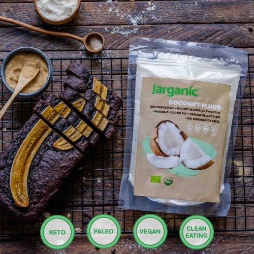 Organic Coconut Flour 1 lb / 16 Ounce - Keto Paleo Vegan, Low Carb, Certified Organic Perspective: bottom