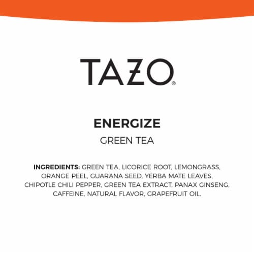 Tazo Energize Green Tea Bags 20 Count Perspective: bottom