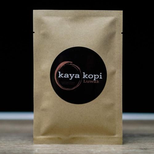 Premium Kaya Kopi Luwak Indonesia Wild Palm Civets Arabica Light Roast Coffee Beans 50 grams Perspective: bottom