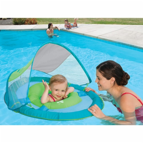 SwimWays 6038626 Spring Float Sun Canopy Baby Swim Pool Float, Colors May Vary Perspective: bottom