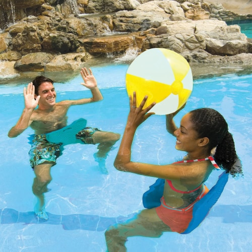 SwimWays Aquaria Pool Float Saddle Seat Chair for Floating and Swimming, Blue Perspective: bottom