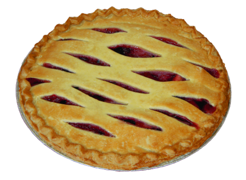 Legendary Bakery Red White and Blue Fruit Pie Perspective: bottom