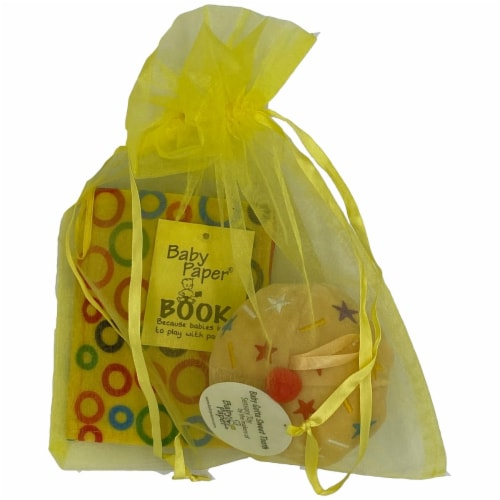 Baby Paper Vanilla Cupcake & Crinkle Book Gift Set - Baby Paper Crinkle Toys Perspective: bottom