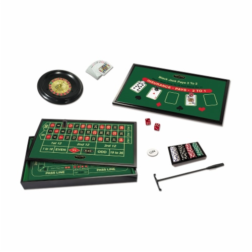 Front Porch Classics 4-in-1 Casino Game Set Perspective: bottom