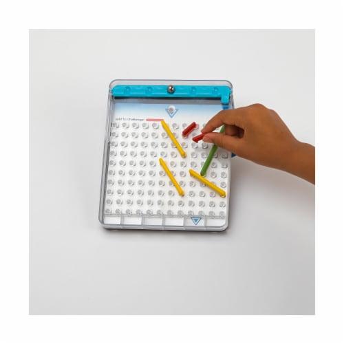 Blue Orange Tumble Maze Gravity-Powered Logic Game Perspective: bottom