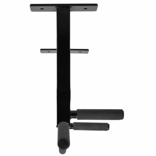 Ultimate Body Press CMP Ceiling Mounted Pull Up Bar w/ Reversible Risers, Black Perspective: bottom