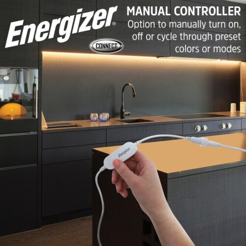 Energizer Connect EOS2-1001-WHT Smart Multicolor LED Light Strip, 16.4 Feet Perspective: bottom