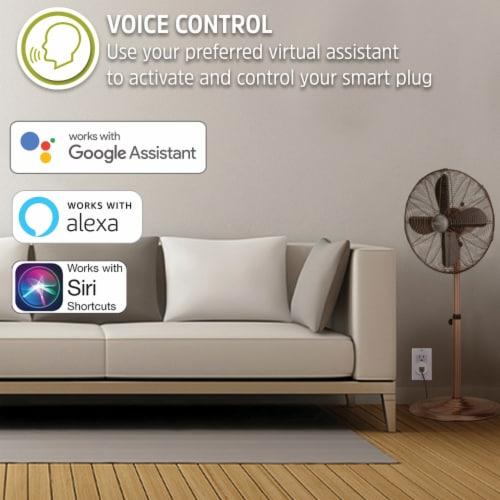 Energizer Connect EIX3-1003-WHT 15-Amp Smart Wi-Fi Plug (Single) Perspective: bottom