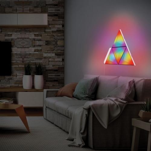 Monster MLB7-1038-RGB Smart Prism Modular 3D LED Art Panels Add-on Pack Perspective: bottom