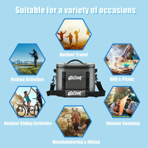 Gymax 30 Cans Soft Portable Cooler Bag Leak-Proof Insulated Water-Resistant For Picnic Perspective: bottom