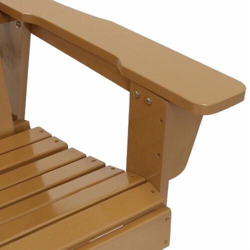 Sunnydaze Adirondack Rocking Chair Classic Wood Outdoor Furniture - Cedar Finish Perspective: bottom