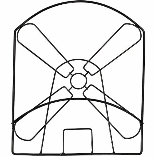 Sunnydaze Metal Garden Hose Stand with Classic Dutch Windmill Design - 42-Inch Perspective: bottom