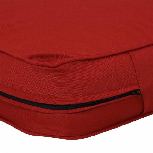 Sunnydaze Back and Seat Cushion Set for Outdoor Deep Seating - Red Perspective: bottom